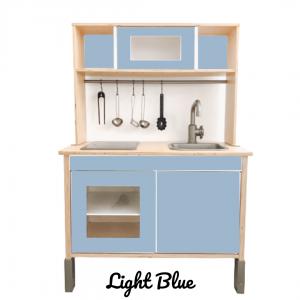 light blue sticker set voorkant ikea duktig keuken