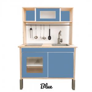 blue sticker set voorkant ikea duktig keuken