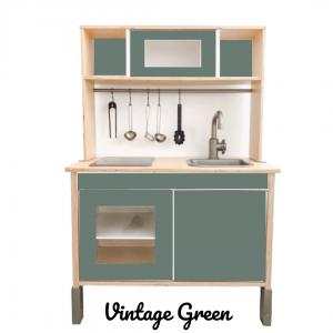 vintage green sticker set voorkant ikea duktig keuken