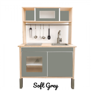 soft grey sticker set voorkant ikea duktig keuken