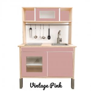 vintage pink sticker set voorkant ikea duktig keuken