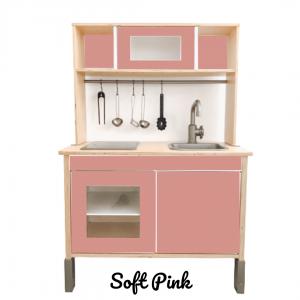 soft pink sticker set voorkant ikea duktig keuken